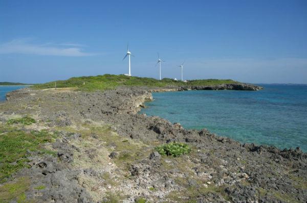 宮古島:西平安名崎の風車