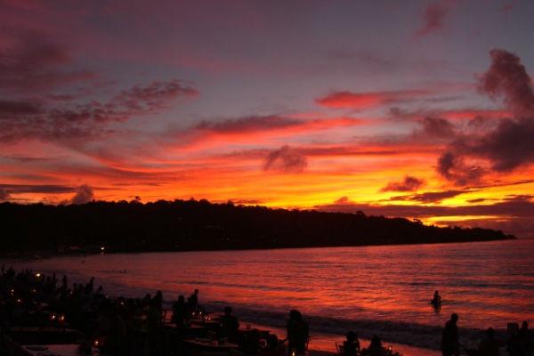 【バリ島】ジンバランビーチの夕焼け