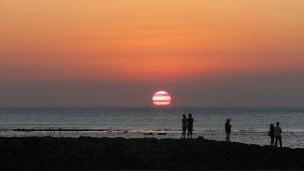 【バリ島:クタ】夕暮れ時のクタビーチ