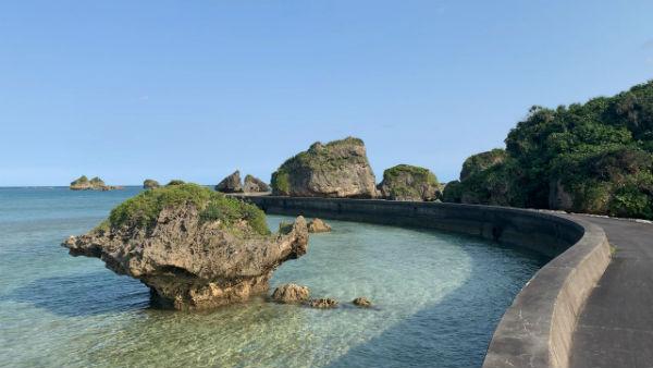 大神島:奇石(ノッチ)